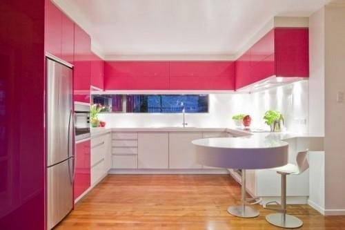 Малиновая кухня в интерьере