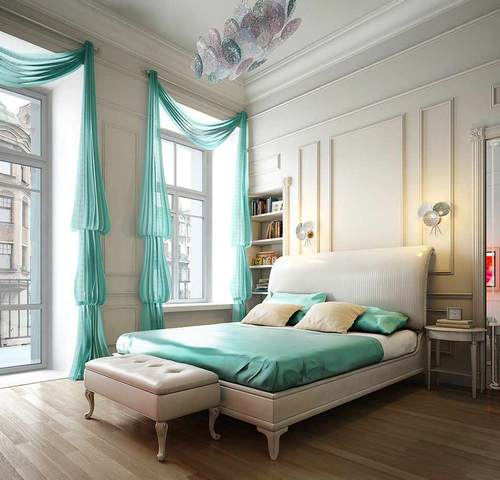 Yellow Green Bedroom Design Blinds For Bedroom Simple Bedroom Design Ideas For Girls Bedroom Colour With Black Furniture: Мятный цвет в интерьере: идеи применения (фото)