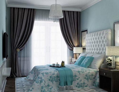 Мятный цвет в дизайне спальни