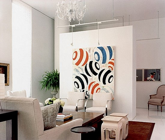 Интерьер гостиной в стиле контемпорари фото