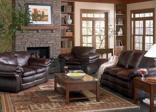 Как расставить кожаную мебель