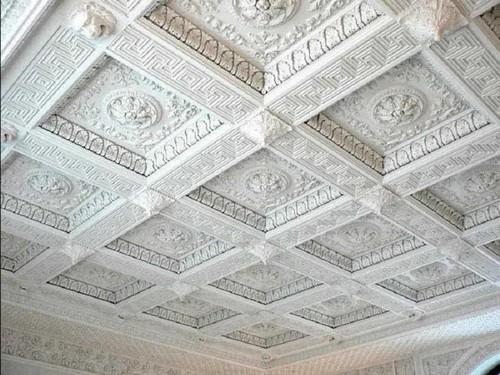 Потолки кессонные светлые