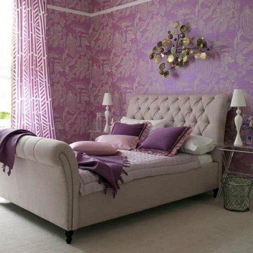 Лавандовая спальня фото