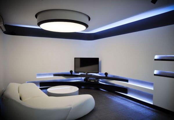 Футуристическая мебель для спальни хай-тек