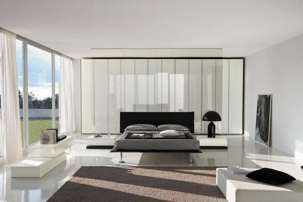 Современная мебель для спальни хай-тек