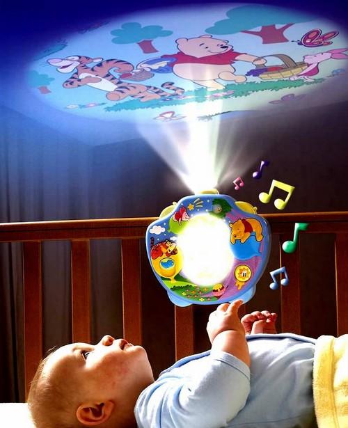 Детский музыкальный ночник с проектором