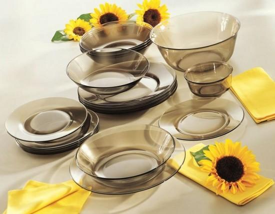 Новая стеклянная посуда для кухни