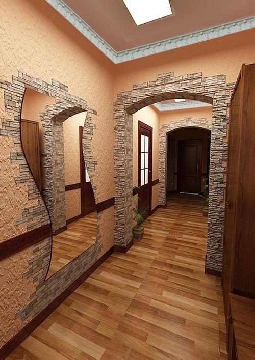 как отделать арку декоративным камнем
