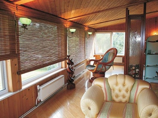 Бамбуковые шторы для веранды и террасы