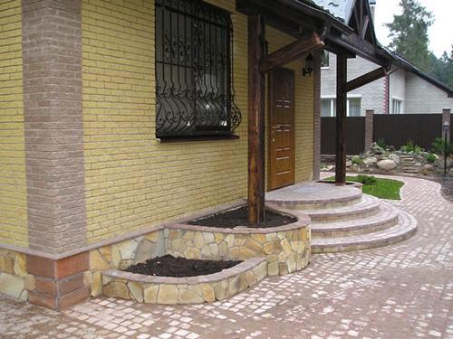 Каменные ступени для крыльца фото