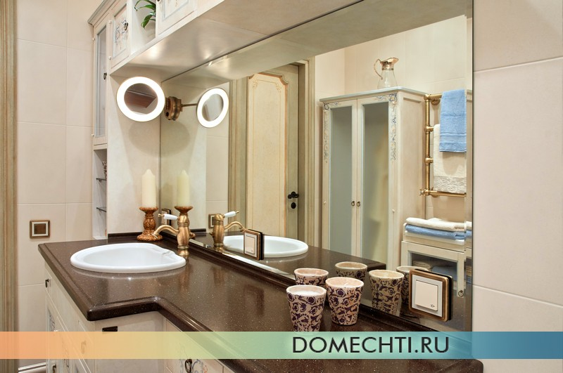 дизайн ванной комнаты прованс