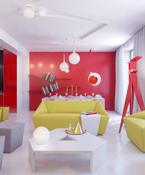 Зонирование пространства цветом