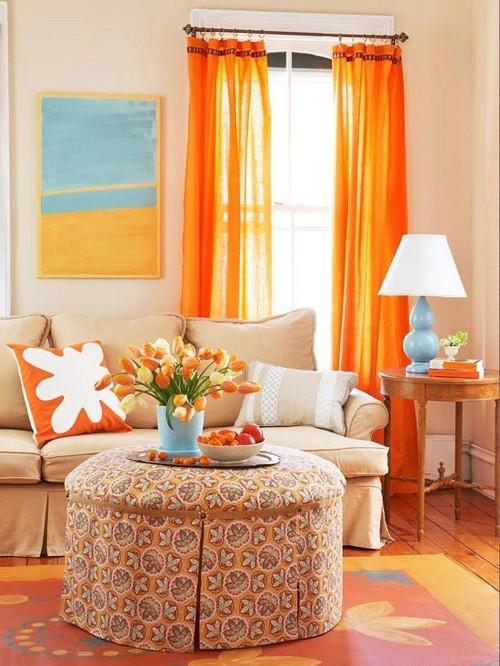 Нежный абрикосовый цвет в интерьере фото