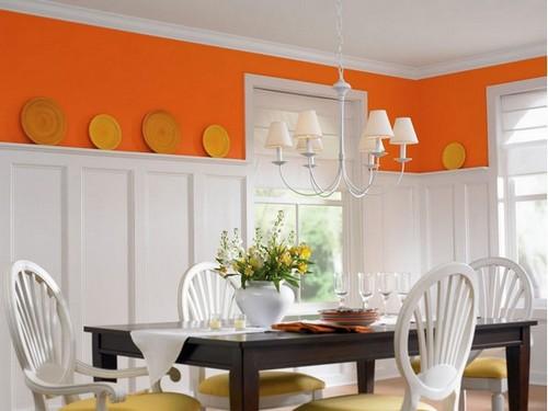 Абрикосовый цвет стен в интерьере