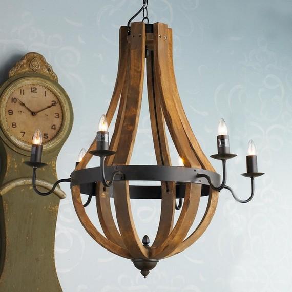 Люстры деревянные потолочные