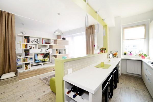интерьер кухни студии фото