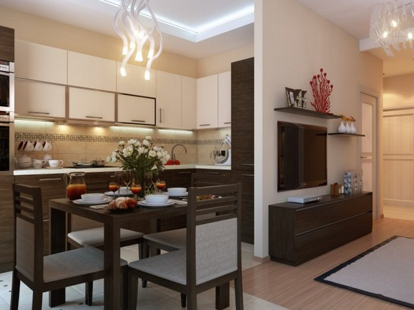кухни для квартиры студии