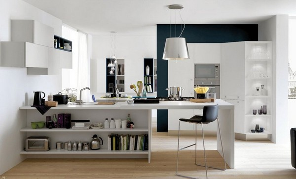 Кухня в квартире-студии фото