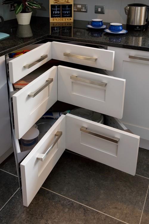 Угловые выдвижные ящики для кухни
