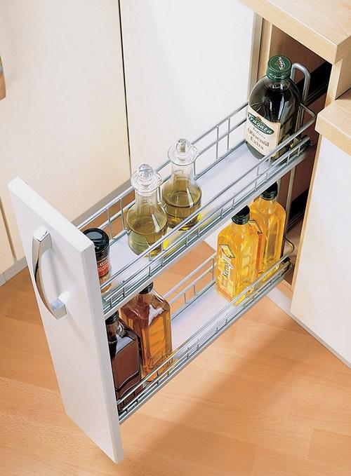 Выдвижные бутылочницы для кухни