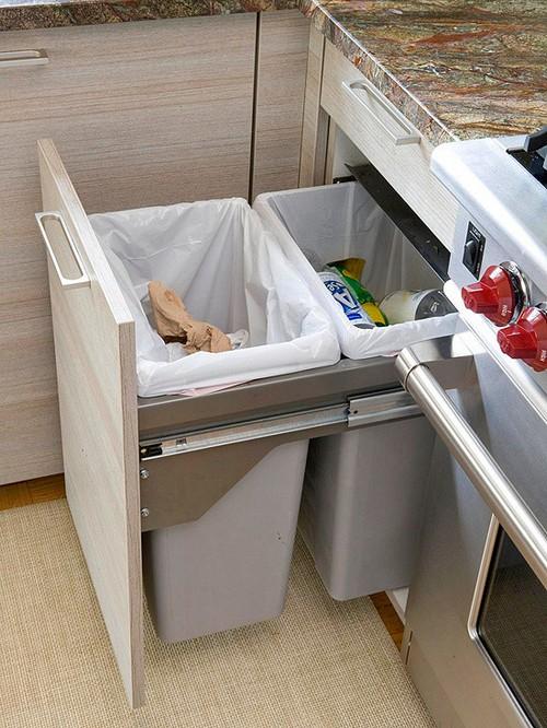 Выдвижное мусорное ведро для кухни