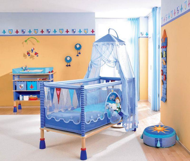Кроватка манеж с балдахином