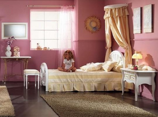 Детская кровать для девочки с балдахином фото