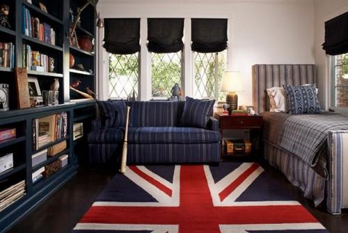 Британский флаг ковер для спальни