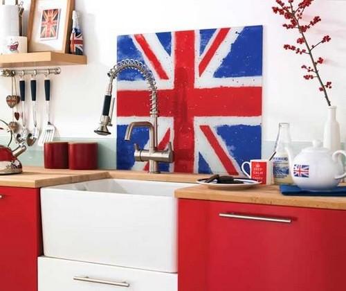Британский флаг в интерьере кухни