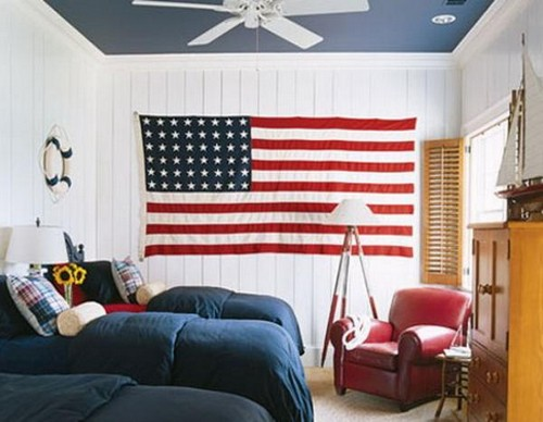 Как закрепить флаг на стене