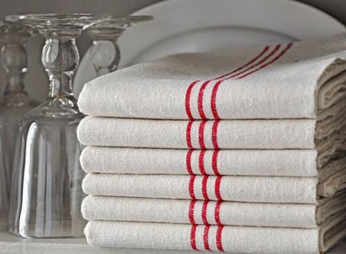 Полотенца кухонные из льна фото