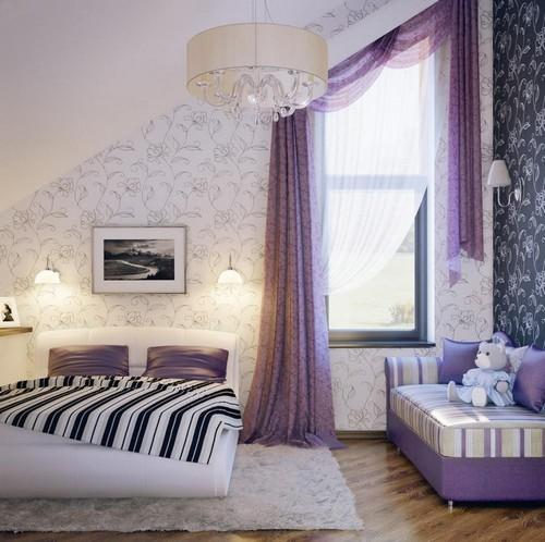 Спальня в лиловых тонах