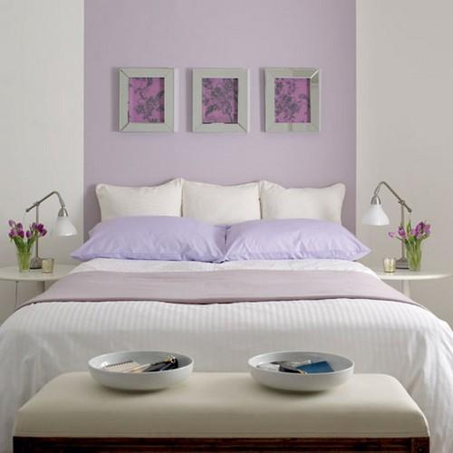 Лиловый цвет в спальне