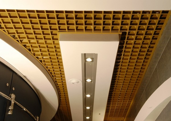 Ячеистый потолок грильято фото
