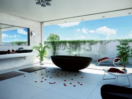 3D-фотообои для ванной фото