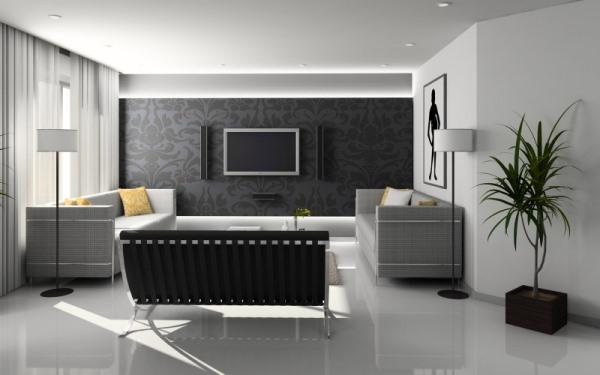 Комбинирование светлых и темных обоев в гостиной фото
