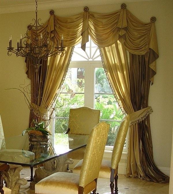 шторы на арочные окна фото