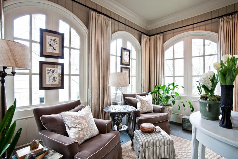 Карнизы для штор выше арочного окна фото