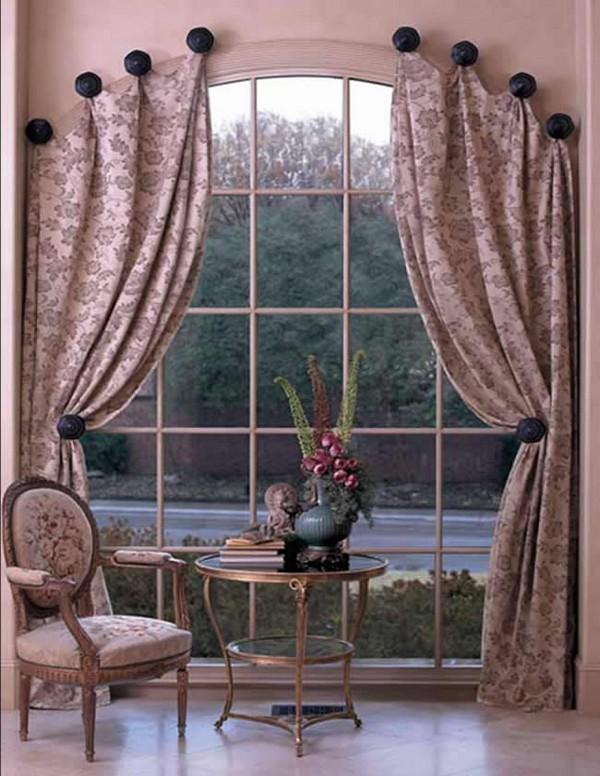 Как повесить шторы на арочные окна