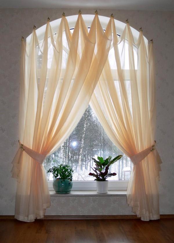 Шторы на арочные окна фото и идеи дизайна Дом Мечты
