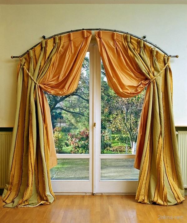 арочные карнизы для штор