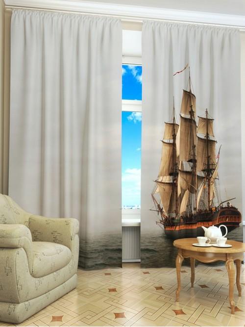 Фото-шторы в морском стиле