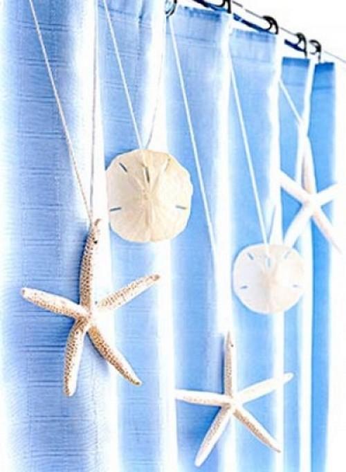 Шторы с декором в морском стиле