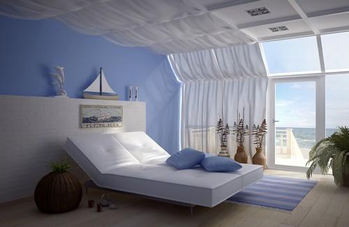 Шторы-паруса для спальни