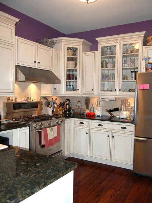 Расположение мебели в маленькой кухне буквой П
