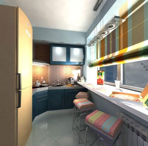 Маленькая кухня на балконе фото