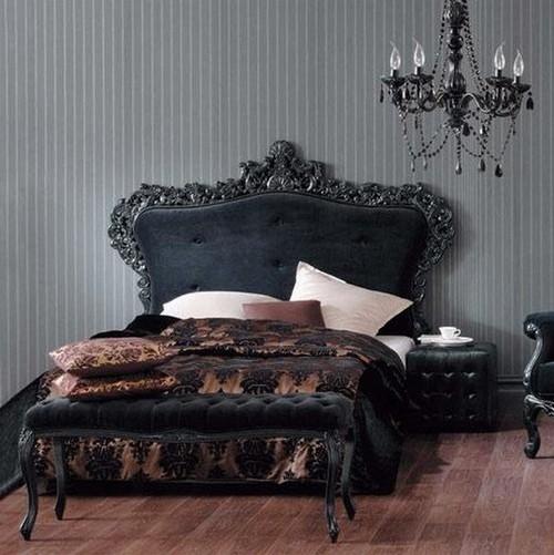 Спальня в готическом стиле фото