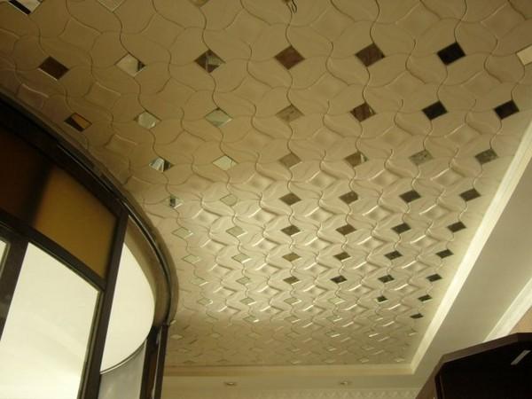 Красивая потолочная плитка фото