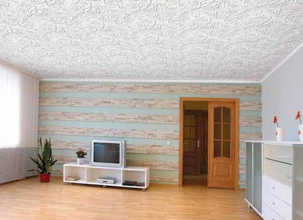 плитка потолочная полистирольная