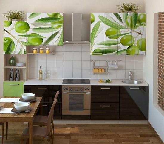 Самоклеющиеся обои для мебели на кухню с фотопечатью